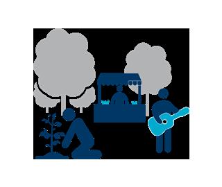 ikona projektu Podporovat komunitní život a zapojit občany do řízení města