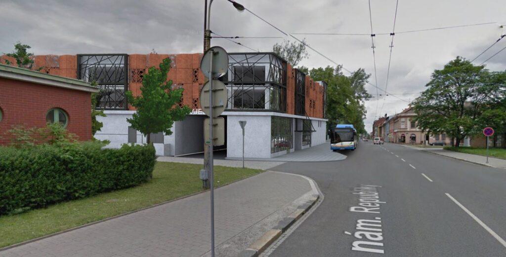 Vizualizace budoucího Parkovacího domu u městské nemocnice