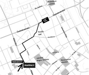 mapa umístění ateliéru Mappa