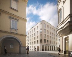 Nové Lauby - visualisation, view from the street