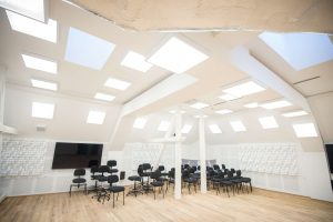 Orchestra rehearsal room